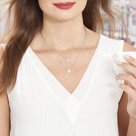 Collier Lyana Argent Blanc Oxyde De Zirconium - Colliers Lune Femme | Histoire d'Or