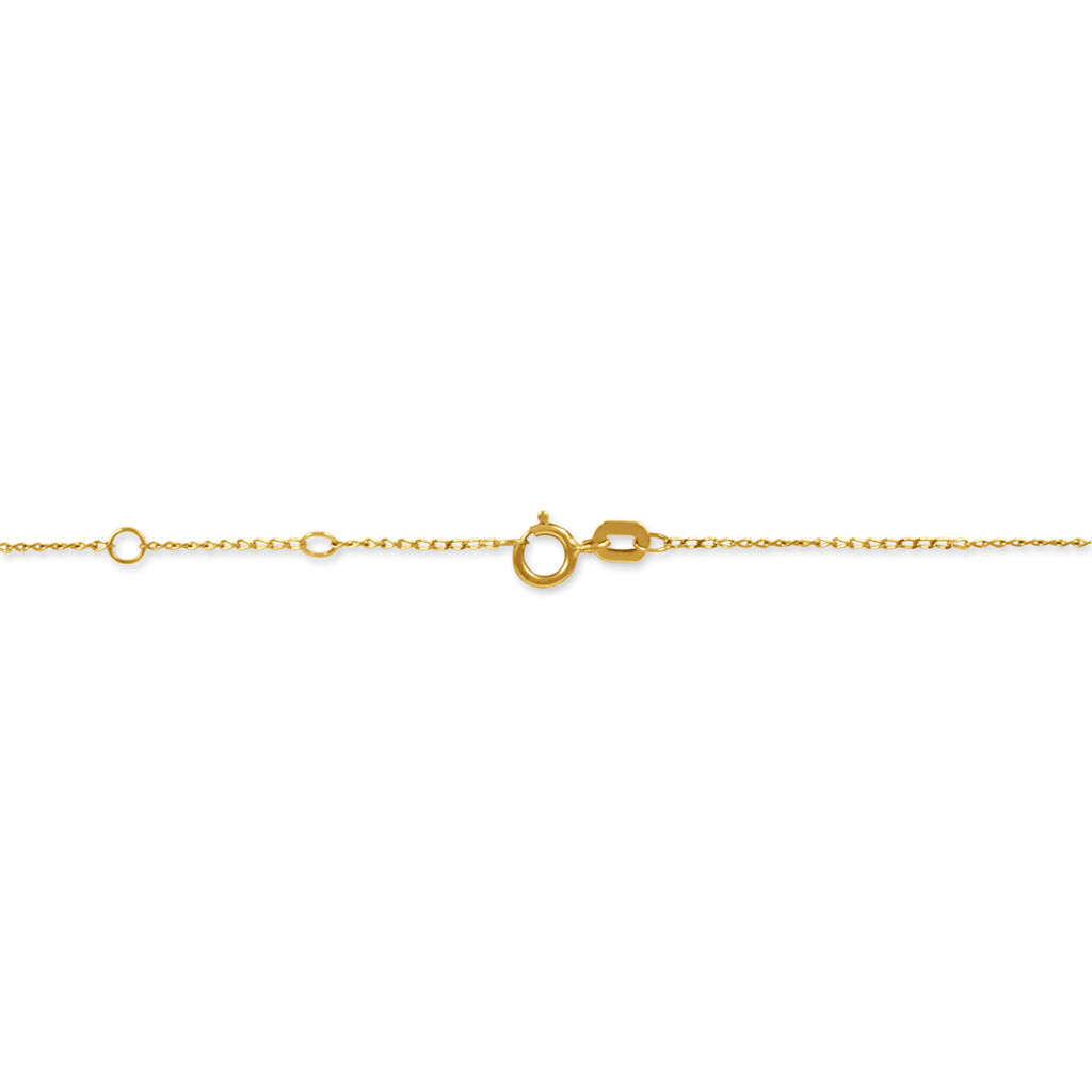 Collier Powoo Or Jaune Strass - Colliers Plume Femme | Histoire d'Or