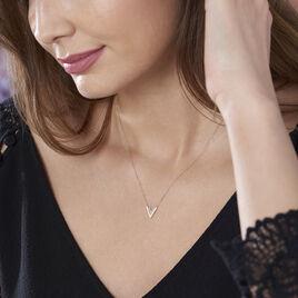 Collier Dao Or Jaune Oxyde De Zirconium - Bijoux Femme   Histoire d'Or