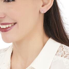 Boucles D'oreilles Puces Mureille Or Jaune Oxyde De Zirconium - Clous d'oreilles Femme   Histoire d'Or