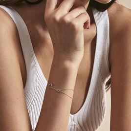 Bracelet Louise Or Blanc Diamant - Bracelets Coeur Femme | Histoire d'Or