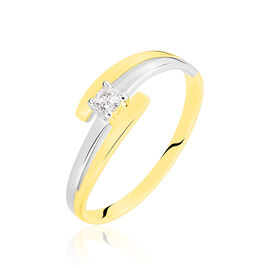 Bague Blandine Or Bicolore Diamant - Bagues solitaires Femme | Histoire d'Or