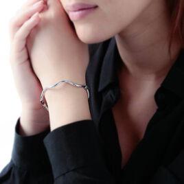 Bracelet Jonc Mary-lise Or Blanc - Bracelets joncs Femme   Histoire d'Or