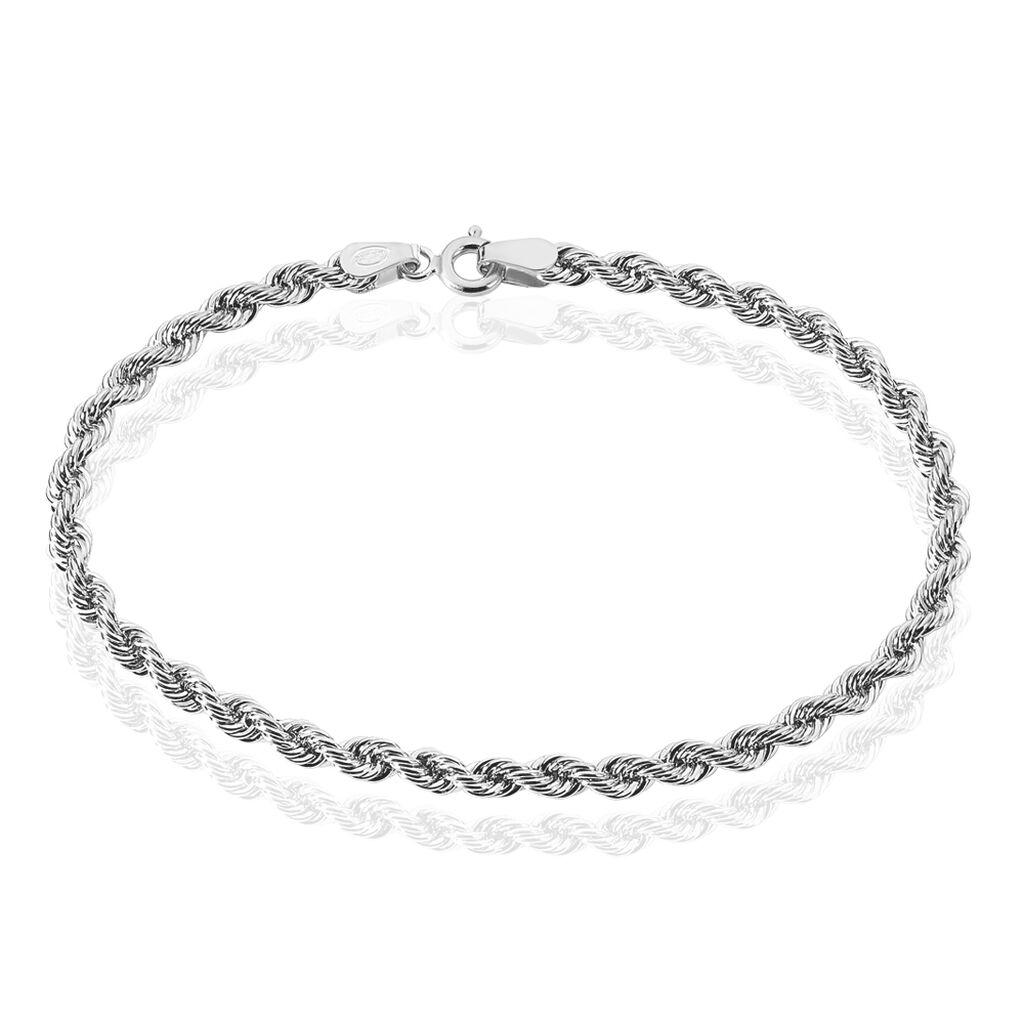 Bracelet Jerry Maille Corde Or Blanc - Bracelets chaîne Femme | Histoire d'Or