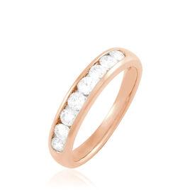 Alliance Giulia Or Rose Diamant - Alliances Femme   Histoire d'Or