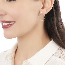 Créoles Tia Geometrique Or Jaune - Boucles d'oreilles créoles Femme | Histoire d'Or