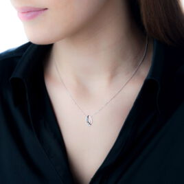 Collier Arielie Or Blanc Diamant - Bijoux Femme   Histoire d'Or