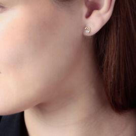 Boucles D'oreilles Puces Daria Cœur Or Jaune Oxyde De Zirconium - Boucles d'Oreilles Coeur Femme | Histoire d'Or