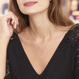 Collier Argent Rhodie Aurélie Cercle Oxyde - Colliers fantaisie Femme   Histoire d'Or