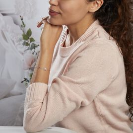 Bracelet Argent Rhodie Gurvana Oxydes De Zirconium - Bracelets fantaisie Femme   Histoire d'Or