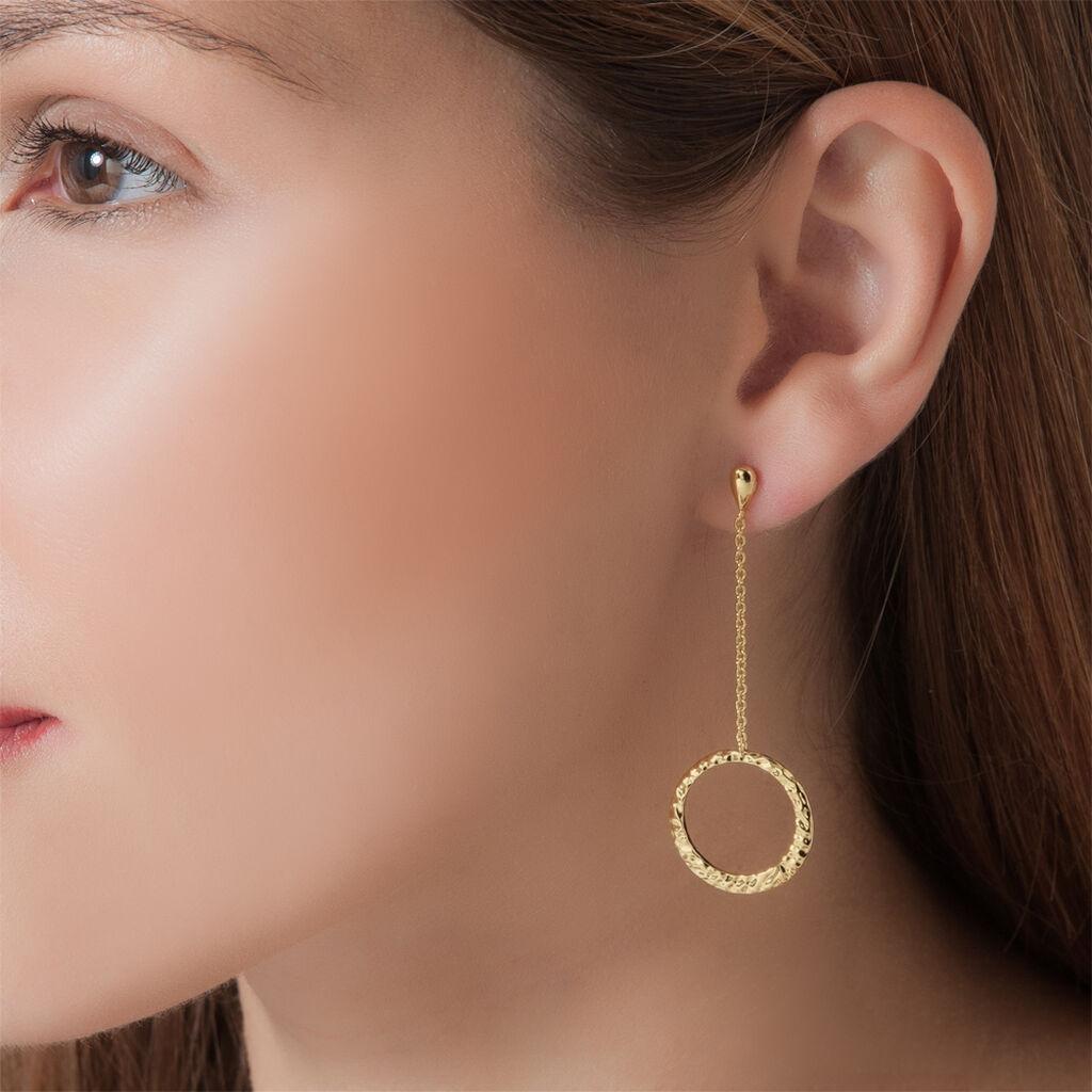 Boucles D'oreilles Pendantes Plaque Or Jaune - Boucles d'oreilles fantaisie Femme   Histoire d'Or
