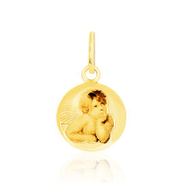 Pendentif Ange Rond Resine Or Jaune - Pendentifs Unisexe | Histoire d'Or