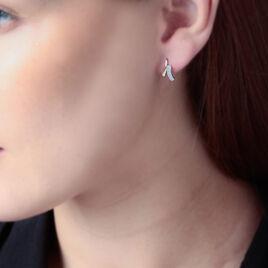 Boucles D'oreilles Puces Hillery Or Jaune Diamant - Clous d'oreilles Femme | Histoire d'Or