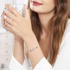 Bracelet Oumoul Argent Blanc Pierre De Synthese - Bracelets fantaisie Femme | Histoire d'Or
