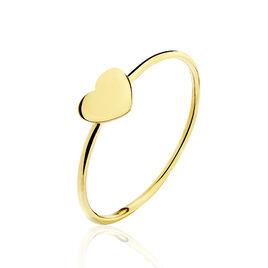 Bague Or Jaune Angie Cœur - Bagues Coeur Femme | Histoire d'Or