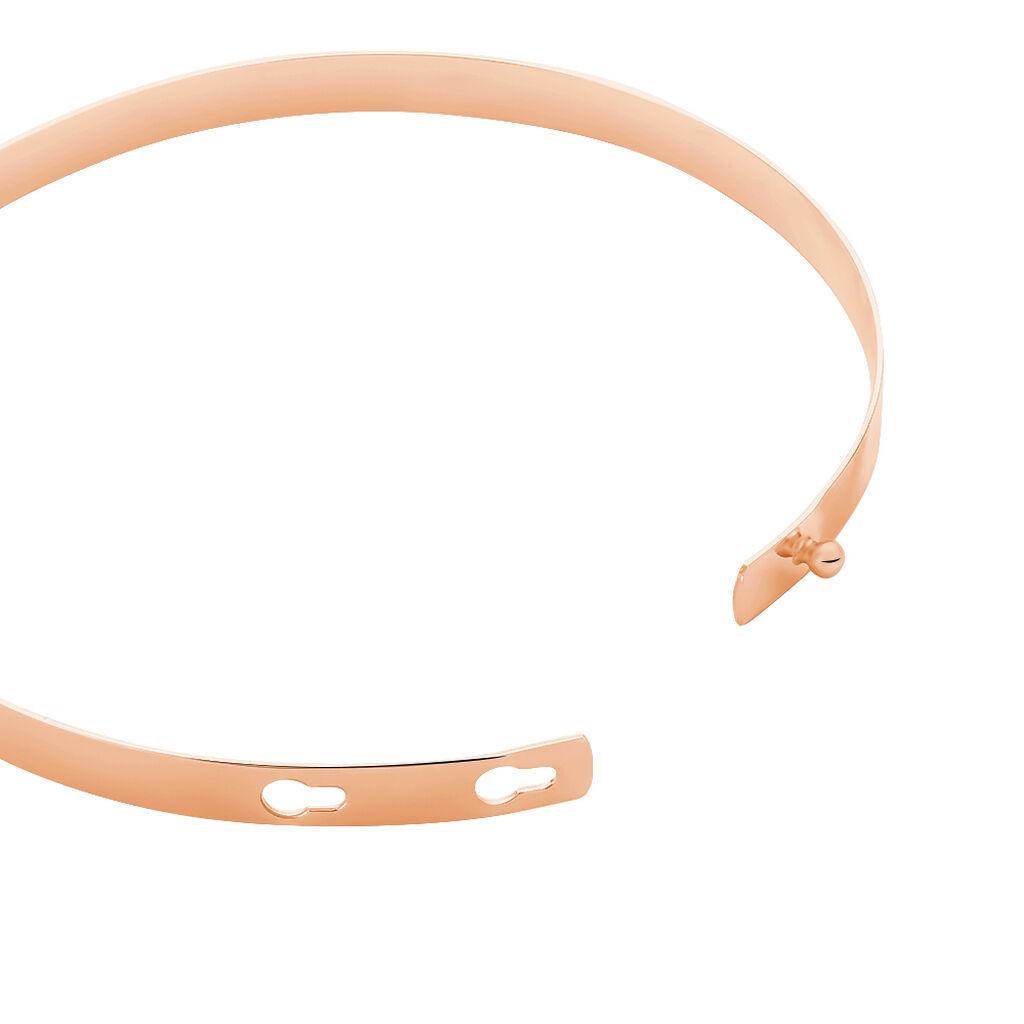 Bracelet Jonc Ludivine Argent Rose - Bracelets fantaisie Femme | Histoire d'Or