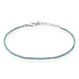 Bracelet Pierrette Argent Blanc Oxyde De Zirconium - Bracelets fantaisie Femme   Histoire d'Or
