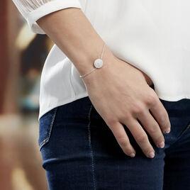 Bracelet Kylia Argent Blanc - Bracelets fantaisie Femme | Histoire d'Or