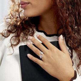 Bague Sarita Argent Blanc Oxyde De Zirconium - Bagues avec pierre Femme   Histoire d'Or