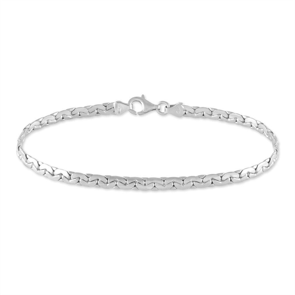 Bracelet Ivy Maille Haricot Or Blanc - Bracelets chaîne Femme | Histoire d'Or