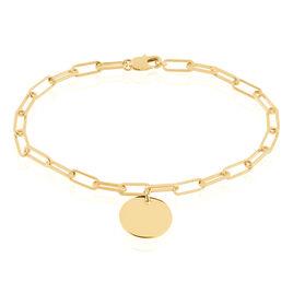 Bracelet Neala Plaque Or Jaune - Bijoux Femme | Histoire d'Or
