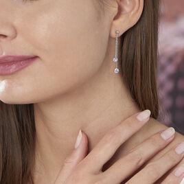 Boucles D'oreilles Pendantes Venda Argent Blanc Oxyde De Zirconium - Boucles d'oreilles fantaisie Femme | Histoire d'Or