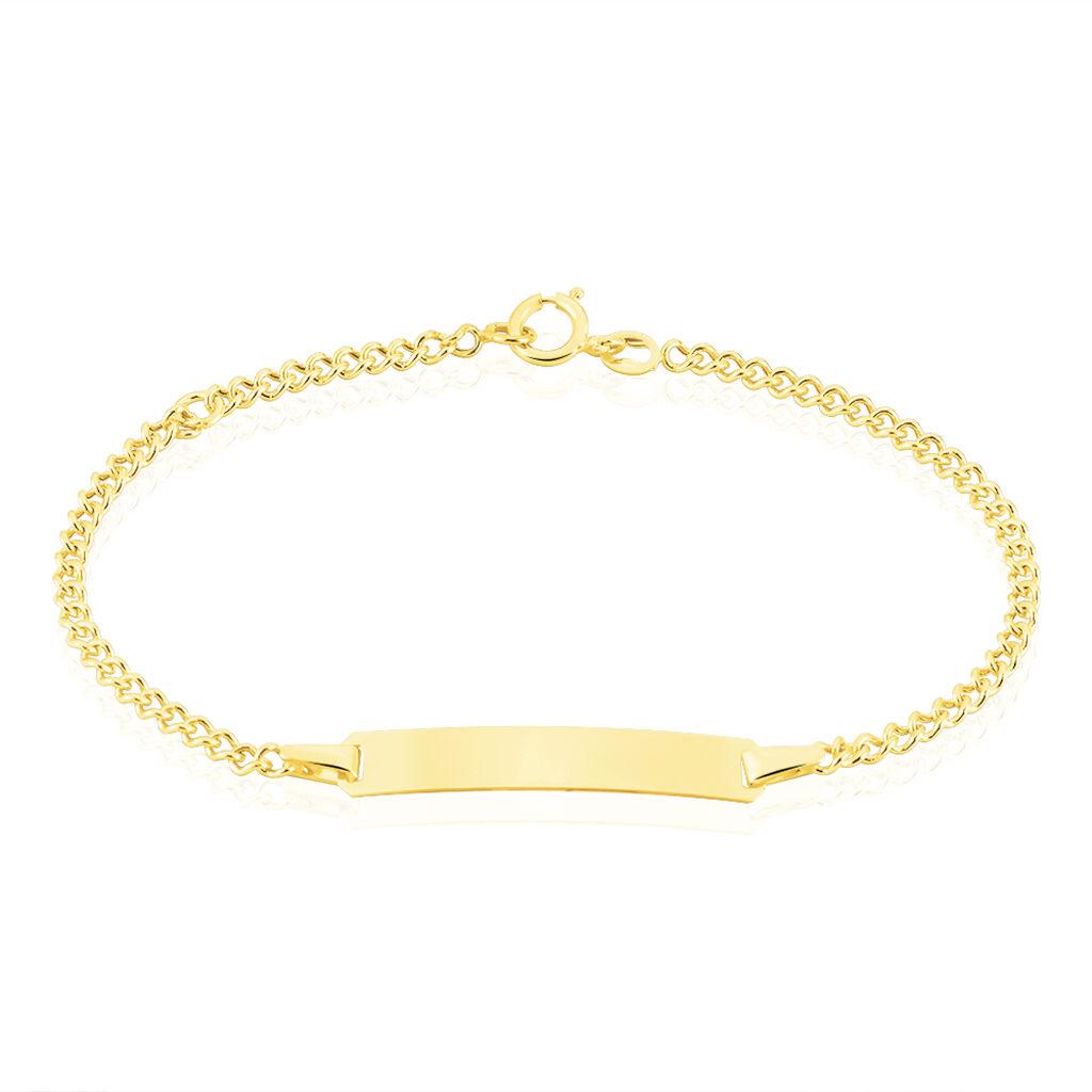 Bracelet Identité Etheline Or Jaune - Bracelets Communion Enfant   Histoire d'Or