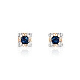 Boucles D'oreilles Pendantes Haia Or Rose Topaze Et Oxyde De Zirconium - Boucles d'oreilles pendantes Femme   Histoire d'Or