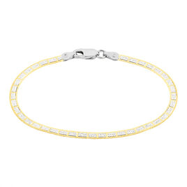 Bracelet Nuriaae Maille Heringbone Argent Jaune - Bracelets chaîne Femme | Histoire d'Or