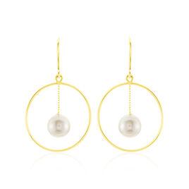 Boucles D'oreilles Pendantes Joris Or Jaune Perle De Culture - Boucles d'oreilles pendantes Femme | Histoire d'Or