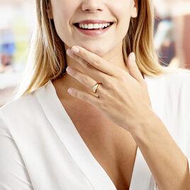 Bague Posie Plaque Or Jaune Oxyde De Zirconium - Bagues solitaires Femme   Histoire d'Or