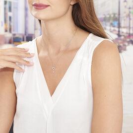 Collier Amy Argent Blanc Oxyde De Zirconium - Colliers fantaisie Femme | Histoire d'Or
