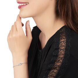 Barcelet Argent Jade Feuille Oxyde - Bracelets Plume Femme | Histoire d'Or