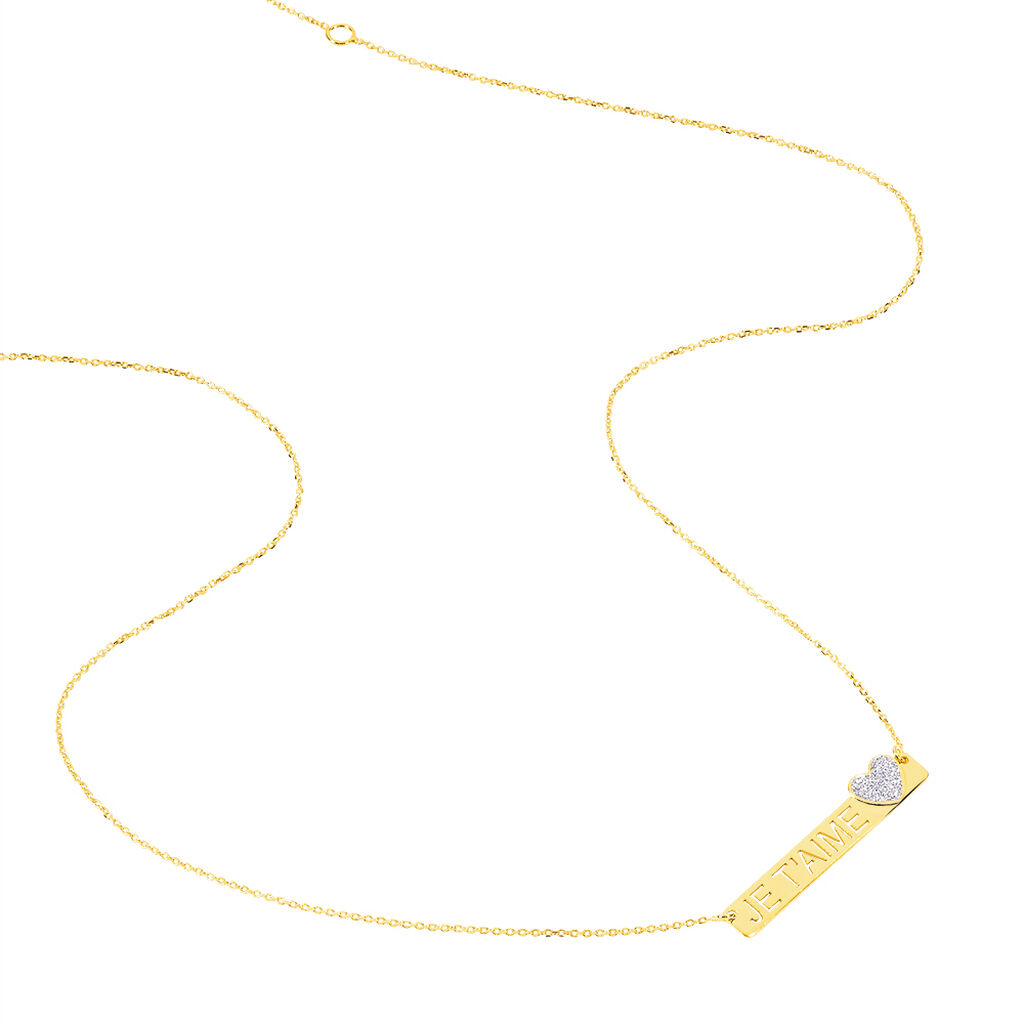 Collier Kimia Or Jaune