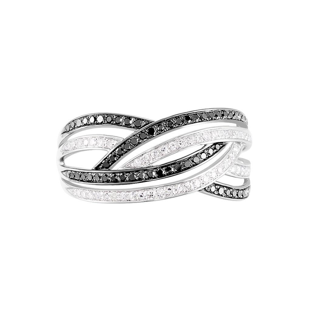 Bague Samsha Or Blanc Diamant - Bagues avec pierre Femme   Histoire d'Or