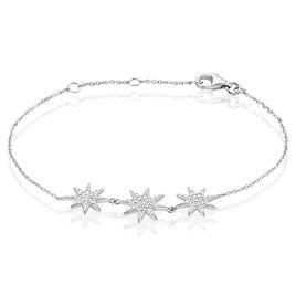 Bracelet Sarida Argent Blanc Oxyde De Zirconium - Bijoux Etoile Femme | Histoire d'Or