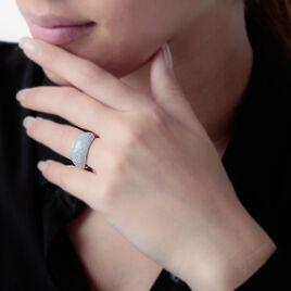 Bague Cecilia Or Blanc Diamant - Bagues avec pierre Femme   Histoire d'Or