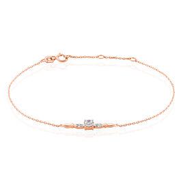 Bracelet Effet Dentelle Or Rose Oxyde De Zirconium - Bijoux Femme | Histoire d'Or