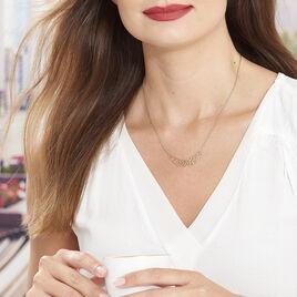 Collier Kateline Plaque Or Jaune - Bijoux Femme   Histoire d'Or