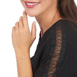 Bracelet Alisonne Or Rose Oxyde De Zirconium - Bijoux Femme   Histoire d'Or