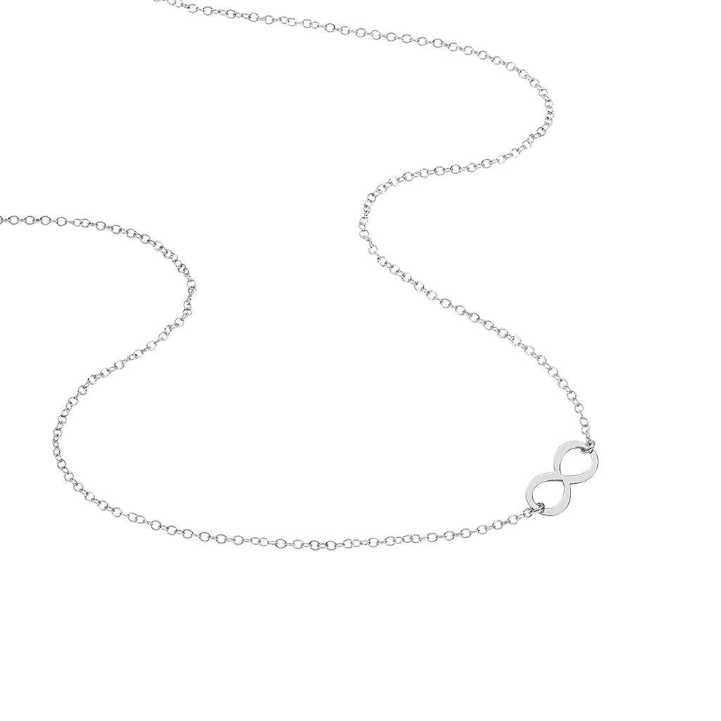 Collier Helsa Argent Blanc - Colliers Infini Femme | Histoire d'Or