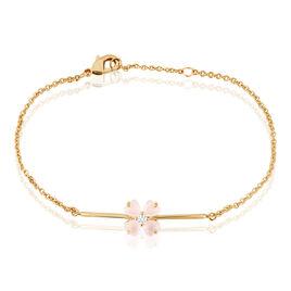 Bracelet Sendai Plaque Or Jaune Oxyde De Zirconium - Bracelets fantaisie Femme   Histoire d'Or