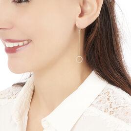 Boucles D'oreilles Pendantes Elizabeta Or Jaune - Boucles d'oreilles pendantes Femme | Histoire d'Or