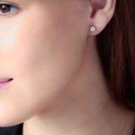 Boucles D'oreilles Puces Tessah Or Jaune Diamant - Clous d'oreilles Femme | Histoire d'Or