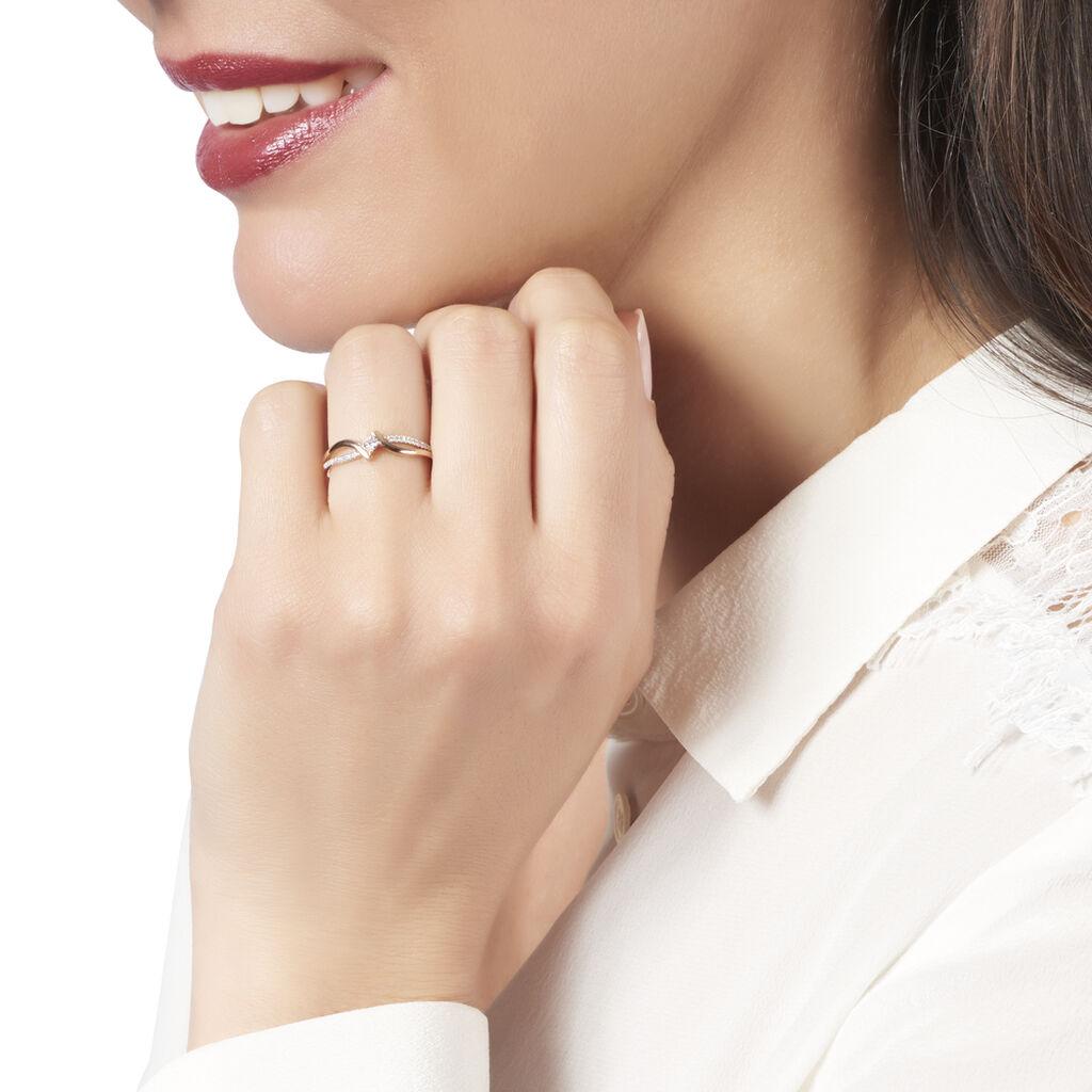 Bague Orianna Or Jaune Diamant - Bagues avec pierre Femme | Histoire d'Or