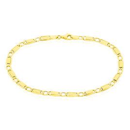 Bracelet Or Jaune Anouch Maille Plaquette - Bracelets chaîne Femme | Histoire d'Or
