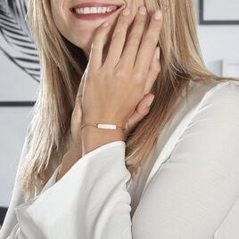 Bracelet Plaqué Or Jaune Maelyo Oxydes De Zirconium - Bijoux Femme | Histoire d'Or