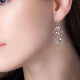 Boucles D'oreilles Pendantes Charlyn Argent Blanc - Boucles d'oreilles fantaisie Femme | Histoire d'Or