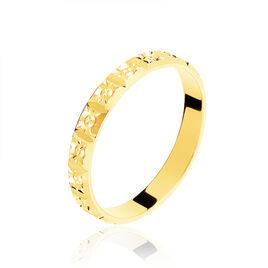 Alliance Marya Carree Diamantee Ruban Plat Or Jaune - Alliances Unisexe | Histoire d'Or