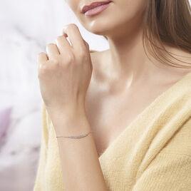 Bracelet Aliah Argent Blanc Oxyde De Zirconium - Bracelets fantaisie Femme   Histoire d'Or